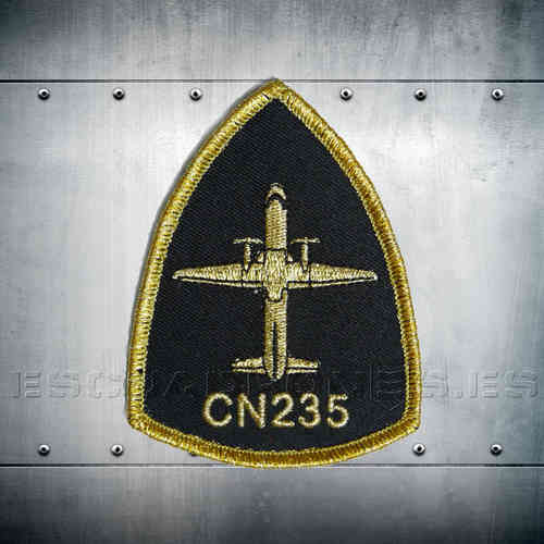 CN-235 black and gold Patch
