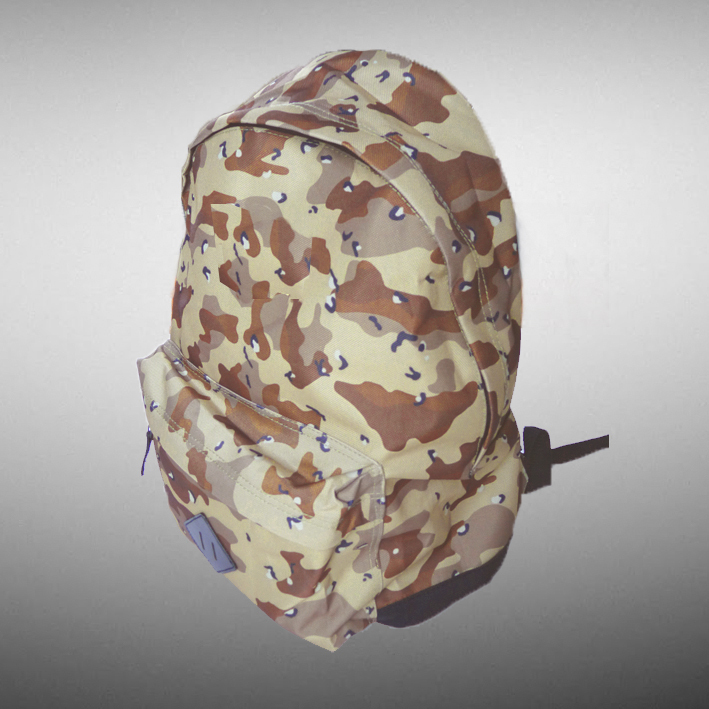 CAMO DESERT BACKPACK( You can choose a patch from our collection  to be sewn )