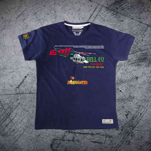 BELL 412 FIREFIGHTER PREMIUM T-shirt