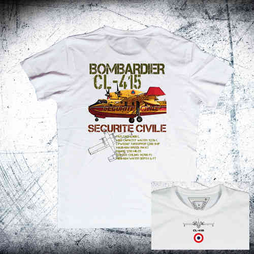 BOMBARDIER CL-415 SECURITE CIVILE back Ordnance T-Shirt