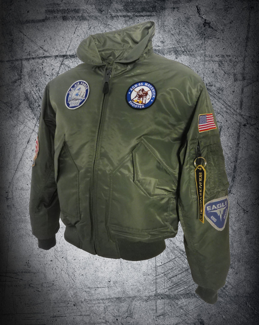 F-15 STRIKE EAGLE FLIGHT GREEN JACKET CWU