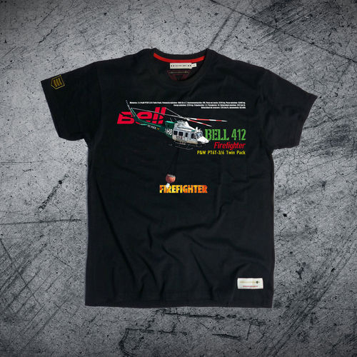 outlet XL black BELL 412 FIREFIGHTER PREMIUM T-shirt