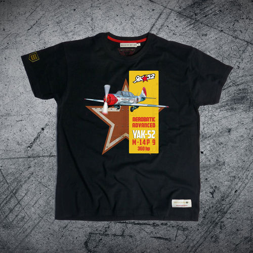outlet M black YAK-52 PREMIUM T-Shirt