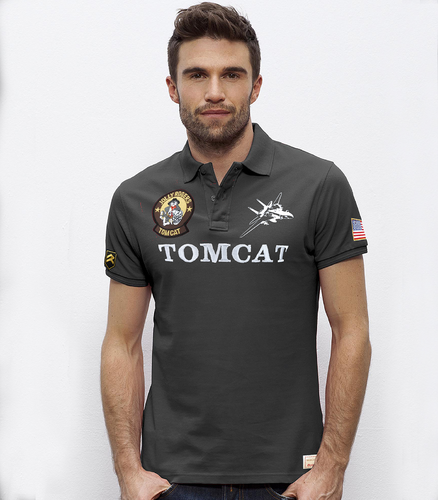 Outlet  XL grey F-14 TOMCAT USAF Polo