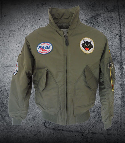 F-18 Hornet 12th Wing olive CWU Pilot jacket
