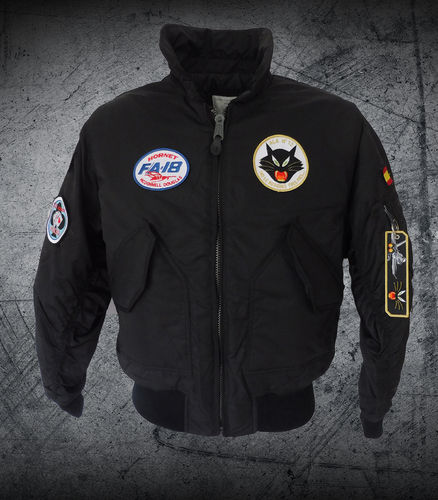 F-18 Hornet 12th Wing  black CWU Pilot jacket