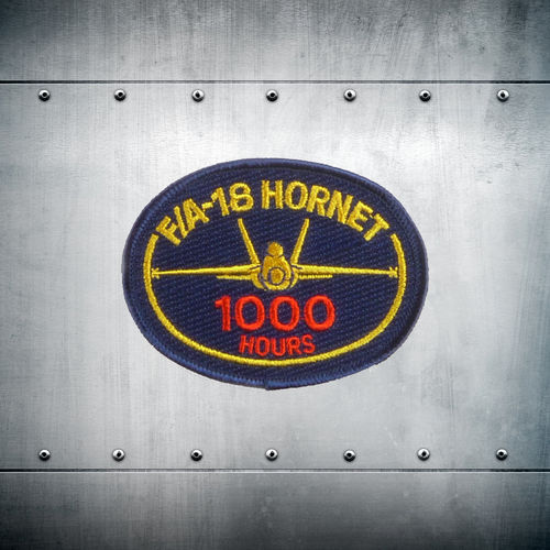 F/A-18 Hornet 1000 hours velcro back patch