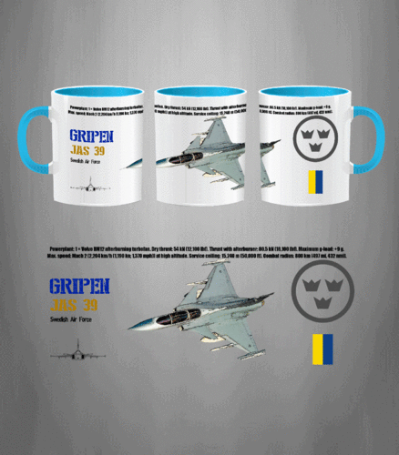 Taza JAS 39 GRIPEN Swedish Air Force