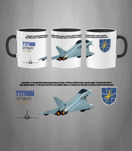 Taza JG 73 Typhoon Luftwaffe
