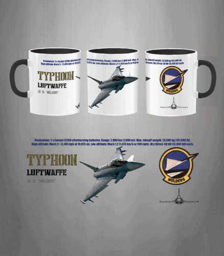 Taza JG 74 Typhoon Luftwaffe