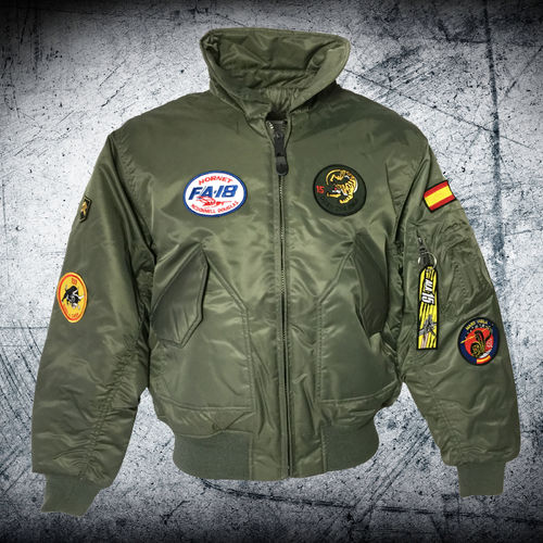 F-18 Hornet 15th Wing olive CWU Pilot jacket