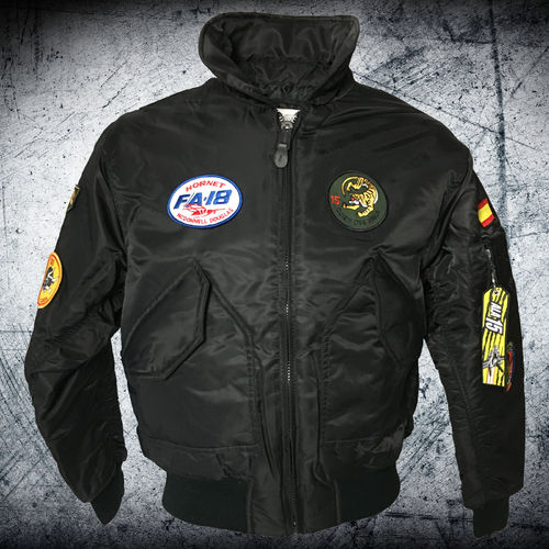 F-18 Hornet 15th Wing black CWU Pilot jacket