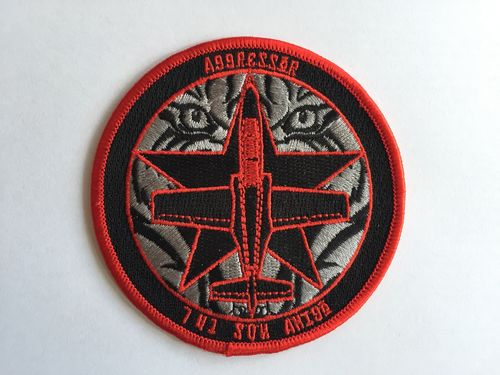 Embroidered patch C-101 Aggressor. Iron sticky back