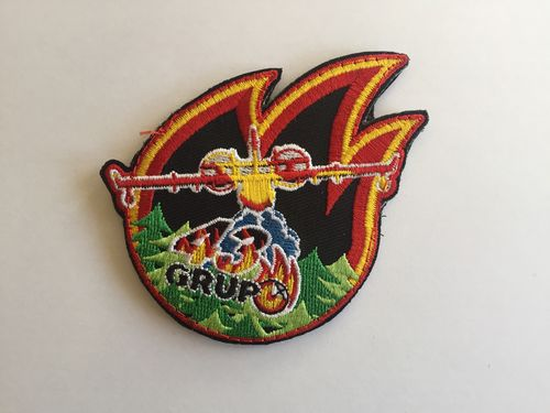 Embroidered patch 43 Grupo fire with velcro