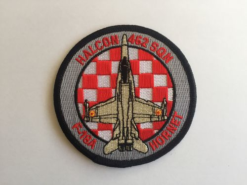 Embroidered patch ALA 46 F-18A . 462 SQN red. Iron sticky back