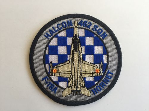 Embroidered patch ALA 46 F-18A . 462 SQN blue . Iron sticky back