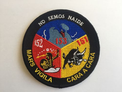 Embroiderd patch ALA 15 , 3 escuadrones. Iron sticky back