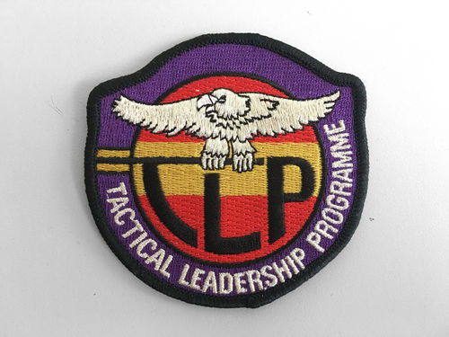 Embroidered Patch T.L.P. Spanish Component With Back Thermo Adhesive