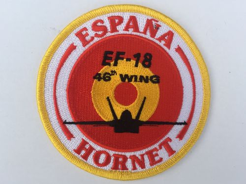 Embroidered patch ALA 46 EF-18 SPAIN . Iron sticky back