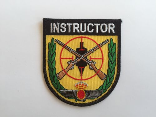Embroidered patch INSTRUCTOR TIRO E.A.  Iron sticky back