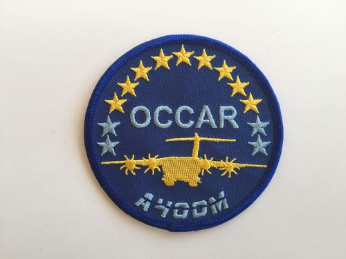 Embroidered patch A-400M  OCCAR. Iron sticky back