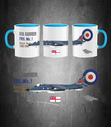 Taza SEA HARRIER Royal Navy