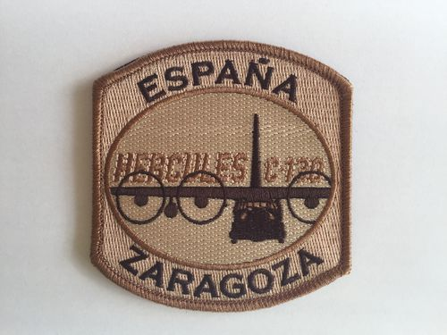 Embroidered desert patch ALA 31 Hercules. 9 cm. Velcro back.