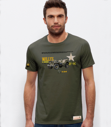 Camiseta militar PREMIUM Jeep Willys ARMY USA
