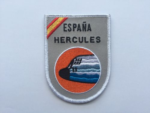 Embroidered patch Hercules Spain. Velcro back.