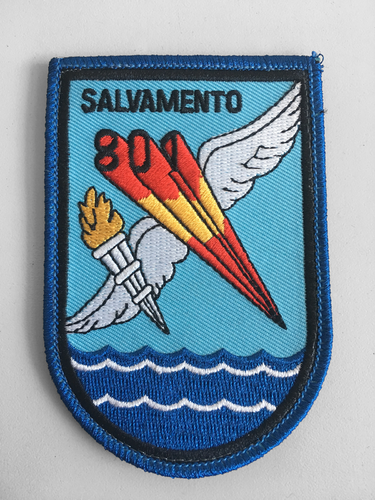 Embroidered patch shield Squadron 801