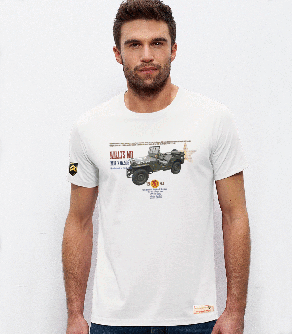 Premium military T-shirt Willys MB