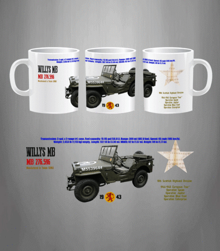 Taza Willys MB