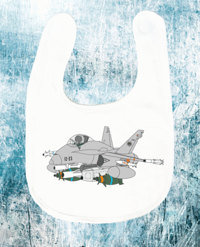 12th wing EF-18 comic bib