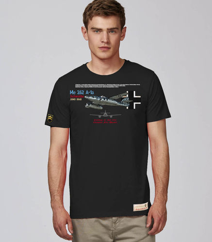 Outlet Size XXL Black Me-262 Luftwaffe T-shirt