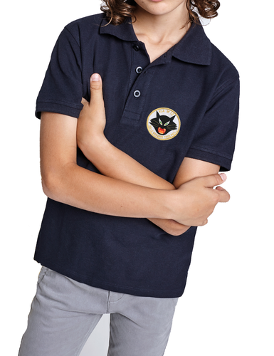 Children's Polo Cat 12th Wing embroidery