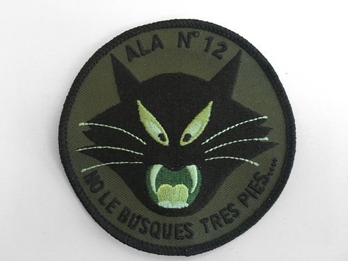 Embroiderie patch 12th wing Green CAT