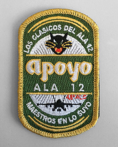 Embroiderie patch 12th wing APOYO