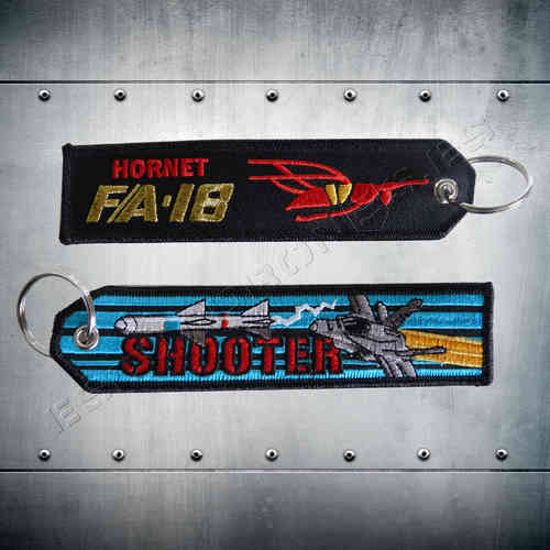 F/A-18 HORNET Shooter Key Chain.