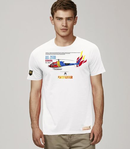 Camiseta AS 350B Ecureuil Fire Attack PREMIUM