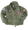 OD CWU KIDS FLIGHT JACKET WITH PATCHES