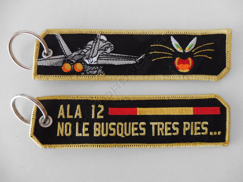 12th wing cat and F/A-18 key Chain
