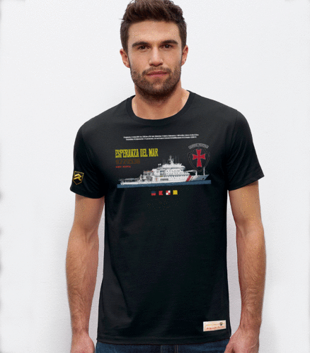 Outlet S black Esperanza del mar Hospital Vessel Premium T-Shirt
