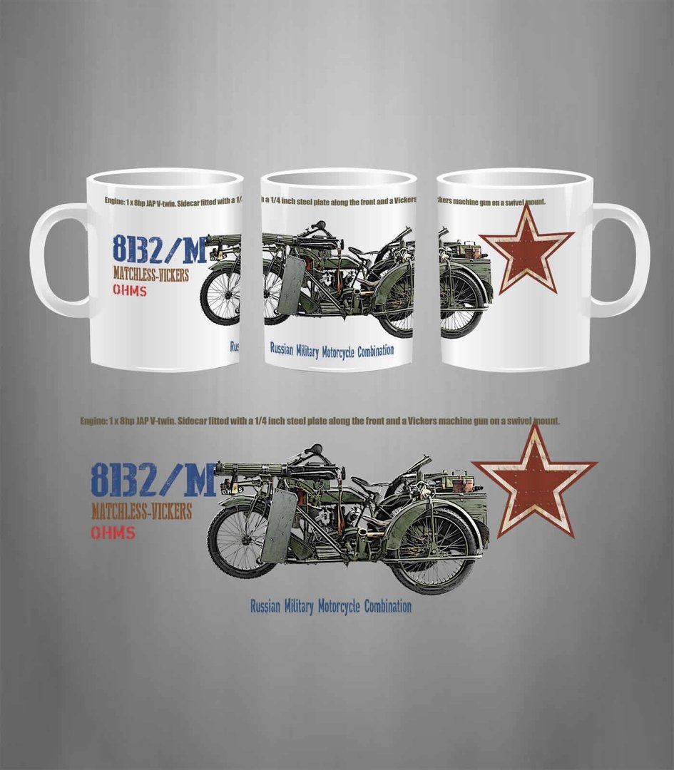 Taza RUSSIAN MOTORCYCLE 8B2/M MATCHLESS-VICKERS