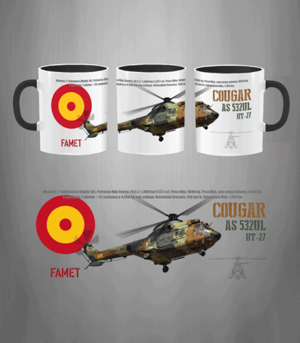 Cougar Helicopter Spanish Army Mug