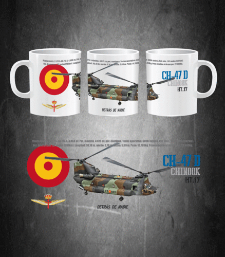 CH-47D Chinook Helicopter Spanish Army Mug