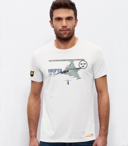 Military PREMIUM Performance T-Shirt JAS 39 GRIPEN Swedish Air Force