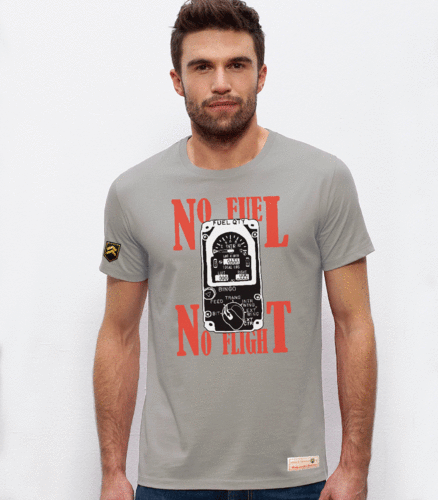 Military T-shirt NO FUEL, NO FLIGHT