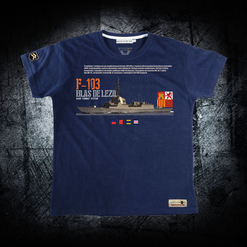 outlet XXL navy blue Fragata Blas de Lezo PREMIUM T-Shirt