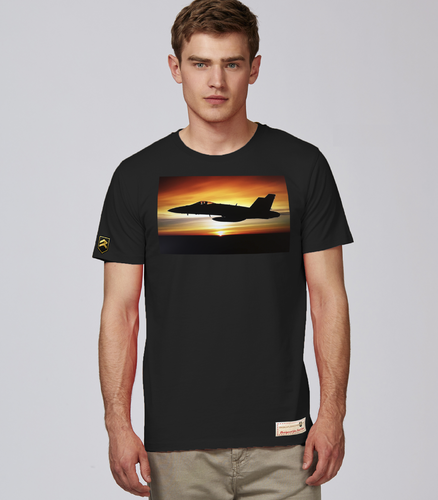 Military Tshirt F/A-18 Hornet nightfall
