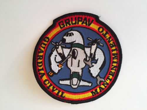 Embroidered patch Guardia civil GRUPAV Mantenimiento . Iron sticky back
